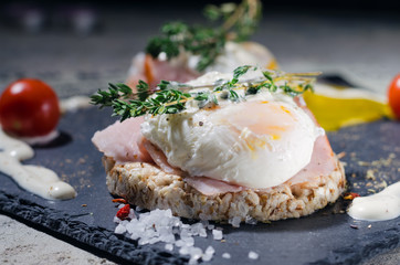 Delicious breakfast - eggs benedict
