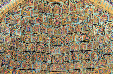 Detail of the Pink Mosque in Shiraz