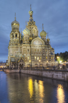 Evening, Church on Spilled Blood (Resurrection Church of Our Saviour), St. Petersburg, Russia