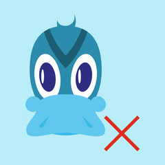 Flat icon in flat style Duck