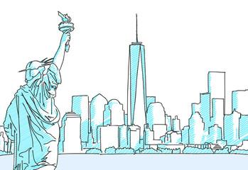 New York Cityscape Sketch