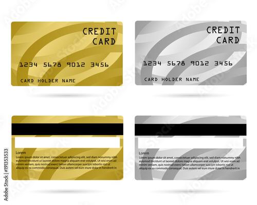 modern credit card, business VIP card, design for privilege member ...