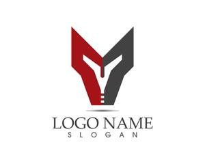 Spartan helmet icon logo design