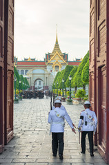 guard of the Royal Palace in Bangkok, Thailand