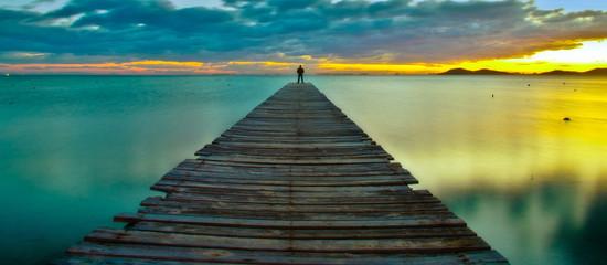 the blue pier