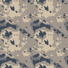 Dark urban camouflage of various shades of beige, gray and navy