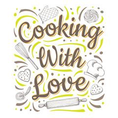 Food Poster Print Lettering Chalk Board