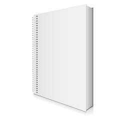 Blank Spiral Book Cover Vector Illustration
