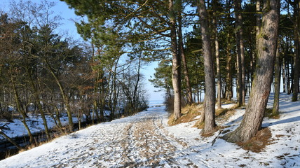 Winter impressions from Karwia, a Kashubian seaside resort on the Polish Baltic Sea coast in Pomerania, here you can see photographs of the beach,