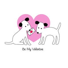 cute dogs valentine
