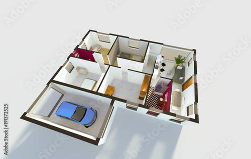 Plan Amenagement Interieur D Une Maison Individuelle Stock Photo