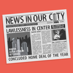 Newspaper Page Concept