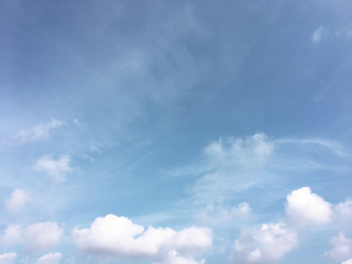 .White clouds and blue sky background