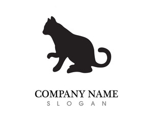 Love cat symbols logo and symbols template