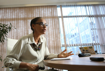 Environmentalist Marina Silva attends an interview with Reuters in Brasilia