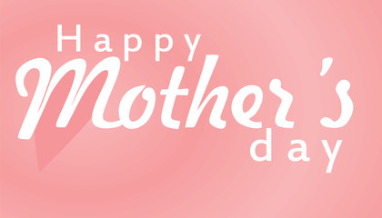 Happy Mother's day card. vector illustration