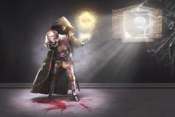 Warlock conjuring a fireball