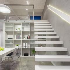 White modern stairs