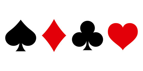 Suit deck of playing cards on white background. Vector illustration. Fotobehang