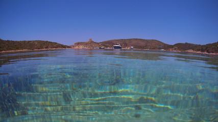 Cala en norte de Mallorca, Islas Baleares (España)