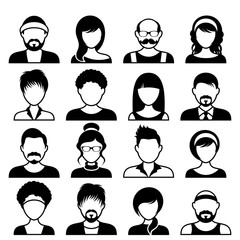 Avatar icons male and female faces