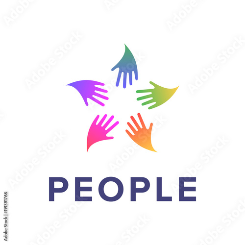 People Logo Template Social Relationship Icon Creative Sign
