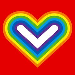 Rainbow heart silhouette
