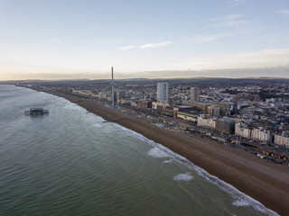 Brighton England Beach Winter Aerial