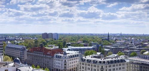 Leipzig Panorama von oben Aussicht