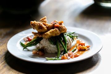 fried catfish / chicken