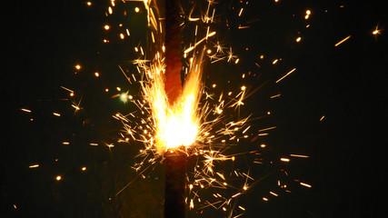 Fond de hotte en verre imprimé Volcan Bengal blurry lights