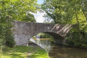 View under arch bridge in Cheshire UK