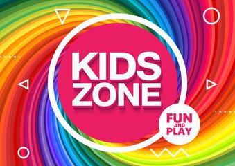 Kids Zone. Children Playground. Playground School. Fun and play. Vector