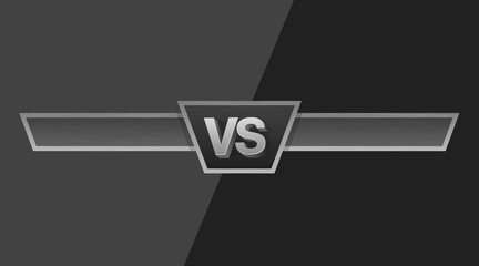 VS duel challenge vector illustration. Versus Board of rivals, with space for text