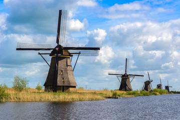 Aluminium Prints Mills Dutch mills in Kinderdijk, South Holland