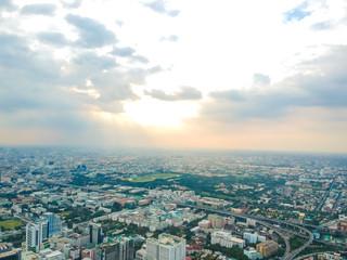 Cityscape of Bangkok skyscraper