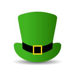 Leprechaun green hat vector icon