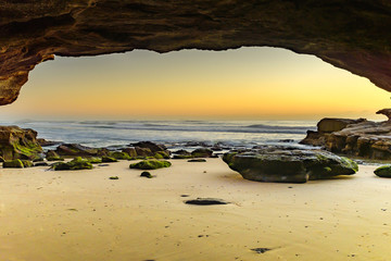 Sunrise Seascape from Cave
