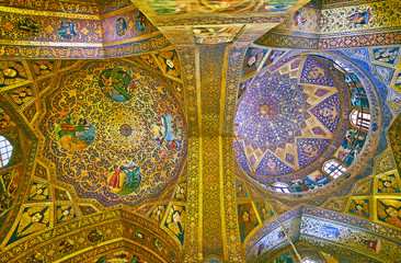 The domes of Vank Cathedral, Isfahan, Iran