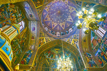 In Holy Savior Cathedral of Isfahan, Iran