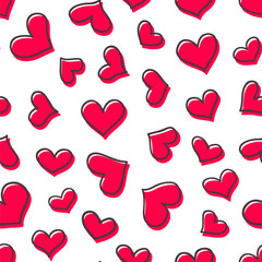 Seamless vector pattern with cute hearts. Great for wallpaper, pattern fills, web page background, fabric, surface textures, gifts,