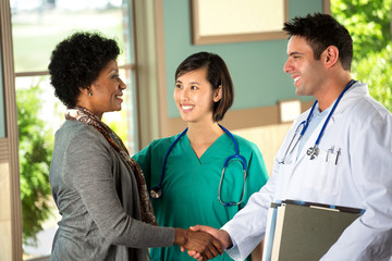 Team of diverse healthcare providers.