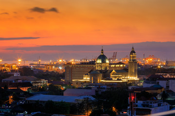 Manila Cathedral at sunset