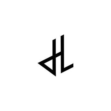 art of letter dhl logo vector