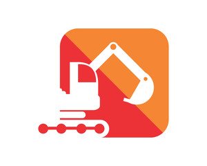 excavator excavation heavy machinery builder image vector icon logo 2