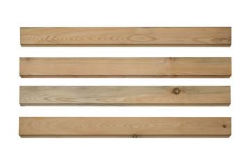 Wood isolated on white background.
