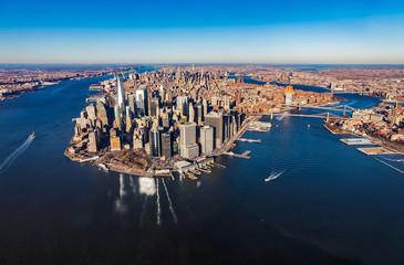 New York Manhattan aerial