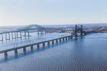 New Jersey bridges aerial