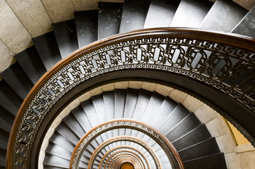 Arrott Building - Half Circular Spiral Marble Staircase - Downtown Pittsburgh, Pennsylvania