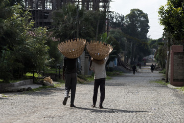 Ethiopian Street Sellers in Addis Ababa.